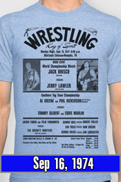 Sep 16, 1974 - Lawler vs Jack Brisco